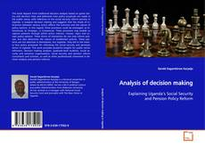 Bookcover of Analysis of decision making