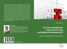 Buchcover von Der Interviewleitfaden Instrument für eine nachhaltige Personalauswahl