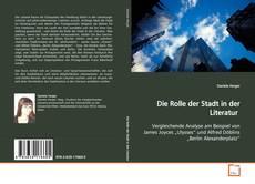 Die Rolle der Stadt in der Literatur kitap kapağı