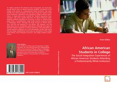 Bookcover of African American Students in College