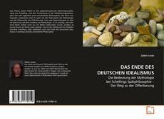 Buchcover von DAS ENDE DES DEUTSCHEN IDEALISMUS