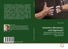 Buchcover von Zwischen Altruismus  und Eigennutz?