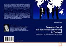 Corporate Social Responsibility Networking in Thailand的封面