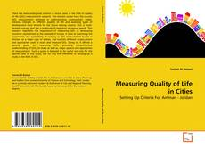 Couverture de Measuring Quality of Life in Cities