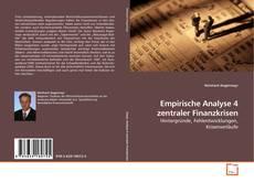 Bookcover of Empirische Analyse 4 zentraler Finanzkrisen