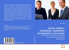 Bookcover of SOCIAL POWER - CORPORATE, NONPROFIT, GOVERNMENT, EDUCATION