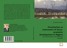 Capa do livro de Privatization as Instrument of Socio-economic Development in Nigeria