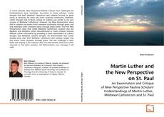 Bookcover of Martin Luther and the New Perspective on St. Paul