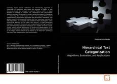 Copertina di Hierarchical Text Categorization