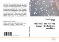 Bookcover of Near-rings and near-ring groups with finiteness conditions