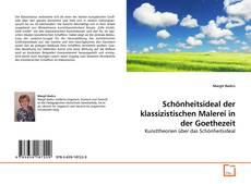 Portada del libro de Schönheitsideal der klassizistischen Malerei in der Goethezeit
