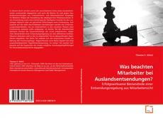 Bookcover of Was beachten Mitarbeiter bei Auslandsentsendungen?