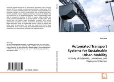 Обложка Automated Transport Systems for Sustainable Urban Mobility