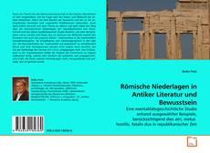 Römische Niederlagen in Antiker Literatur und Bewusstsein kitap kapağı