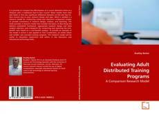Portada del libro de Evaluating Adult Distributed Training Programs