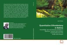 Capa do livro de Quantitative Ethnobotany in Bolivia