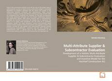 Buchcover von Multi-Attribute Supplier