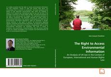 Buchcover von The Right to Access Environmental Information