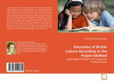 Bookcover of Education of British Culture According to the Project Method
