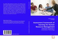 Bookcover of Assessment framework of learning for Human Resource Management
