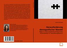 Capa do livro de Herausforderung demografischer Wandel