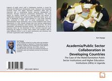 Bookcover of Academia/Public Sector Collaboration in Developing Countries
