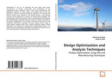 Bookcover of Design Optimization and Analysis Techniques