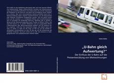 """Buchcover von """"U-Bahn gleich Aufwertung?"""""""