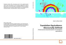 Bookcover of Translation Equivalence: Discoursally Defined