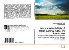 Capa do livro de Interannual variability of Indian summer monsoon: Role of TBO