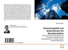 Buchcover von Emissionspolitik von Unternehmen für Wandelanleihen