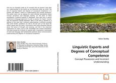 Buchcover von Linguistic Experts and Degrees of Conceptual Competence