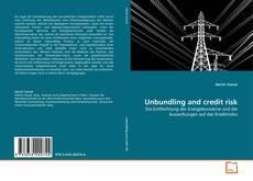 Couverture de Unbundling and credit risk