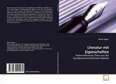 Literatur mit Eigenschaften kitap kapağı