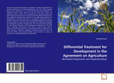 Differential Treatment for Development in the Agreement on Agriculture kitap kapağı