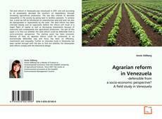 Bookcover of Agrarian reform in Venezuela
