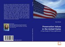 Buchcover von Preservation Values in the United States