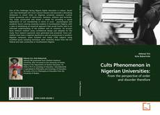 Buchcover von Cults Phenomenon in Nigerian Universities:
