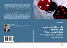 Buchcover von Analyse des Begriffs statistischer Wahrscheinlichkeit