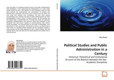 Capa do livro de Political Studies and Public Administration in a Century