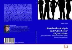 Buchcover von Stakeholder Analysis and Public Sector Organizations