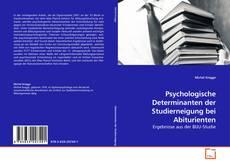 Copertina di Psychologische Determinanten der Studierneigung bei Abiturienten