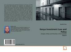 Couverture de Kenya Investment Law and Policy