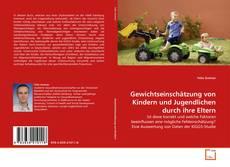 Portada del libro de Gewichtseinschätzung von Kindern und Jugendlichen durch ihre Eltern