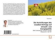 Buchcover von Die Auswirkungen des Lissabon-Vertrags auf Umwelt- und Energiepolitik