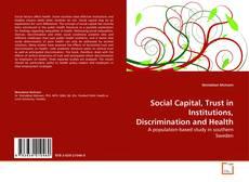 Buchcover von Social Capital, Trust in Institutions, Discrimination and Health