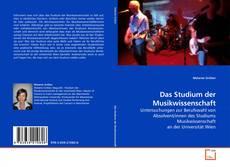 Capa do livro de Das Studium der Musikwissenschaft