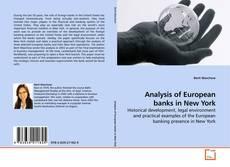 Buchcover von Analysis of European banks in New York