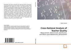 Cross-National Analysis of Teacher Quality kitap kapağı