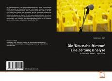 """Bookcover of Die """"Deutsche Stimme"""" Eine Zeitungsanalyse"""
